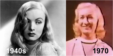 Veronica Lake in 1940s and 1970