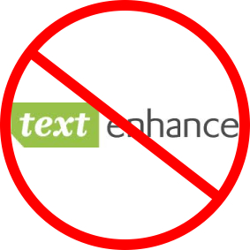 No Text Enchance graphic