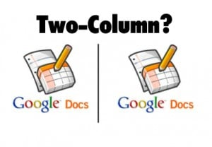 How to Make a Two-Column Layout in Google Documents