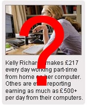 Kelly Richards ? Work from Home ad