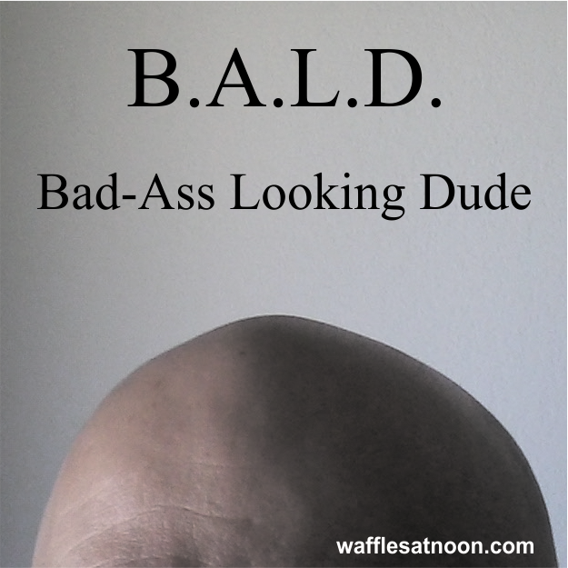 Bald head graphic