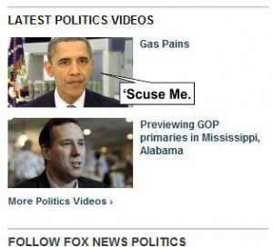 Funny Obama Headline on FoxNews