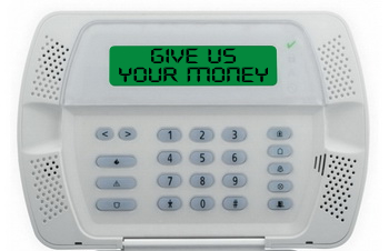 """Give Us Your Money"" security system"