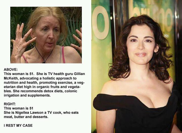 Gillian McKeith & Nigella Lawson graphic