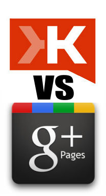 Klout vs Google Plus Pages