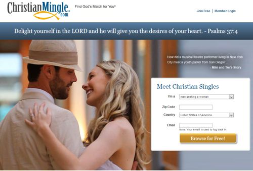 This is a screenshot of ChristianMingle.com, taken in October 2013.
