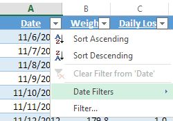 Excel Web App Sorting Format screenshot