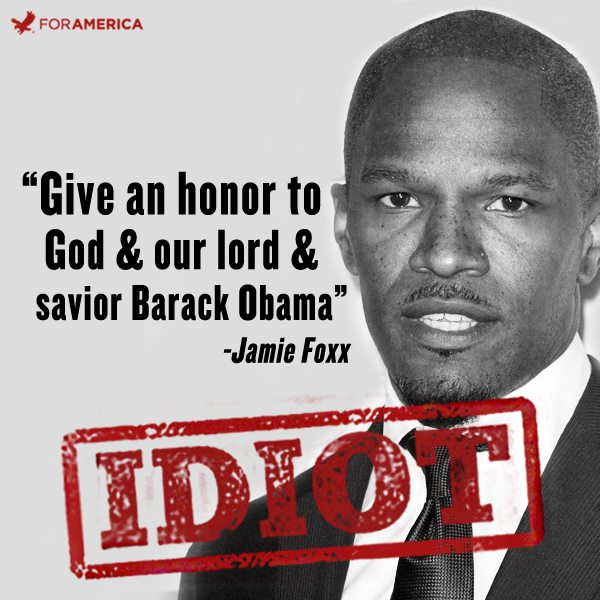 Jamie Foxx Barack Obama Lord Savior graphic