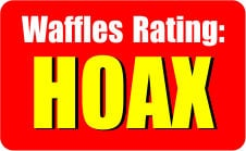 Waffles Rating Hoax graphic
