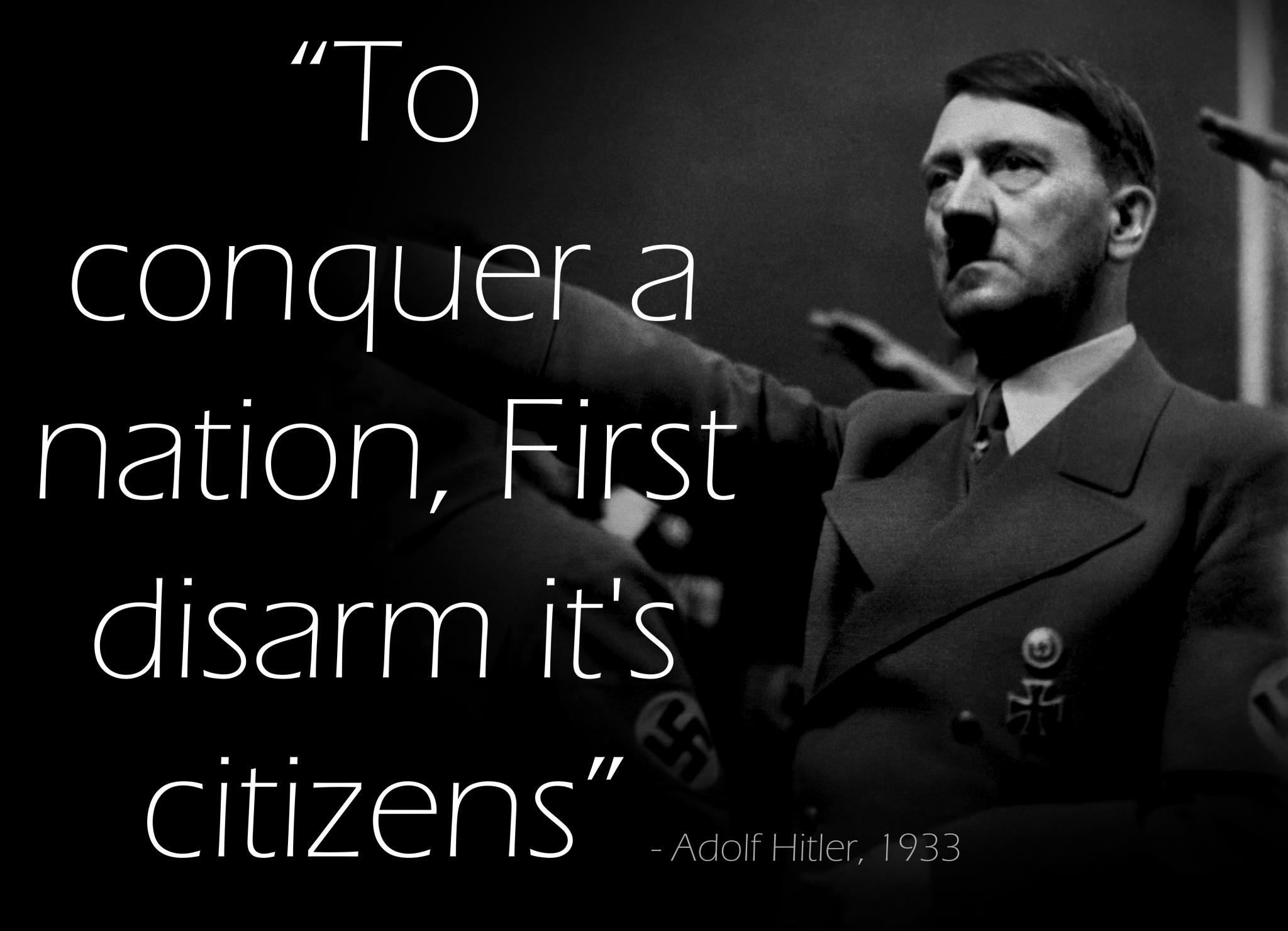 Hitler Disarm Citizens graphic