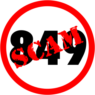 849 Scam graphic