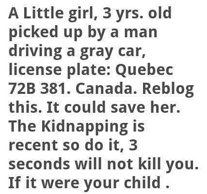 Fake Amber Alert graphic