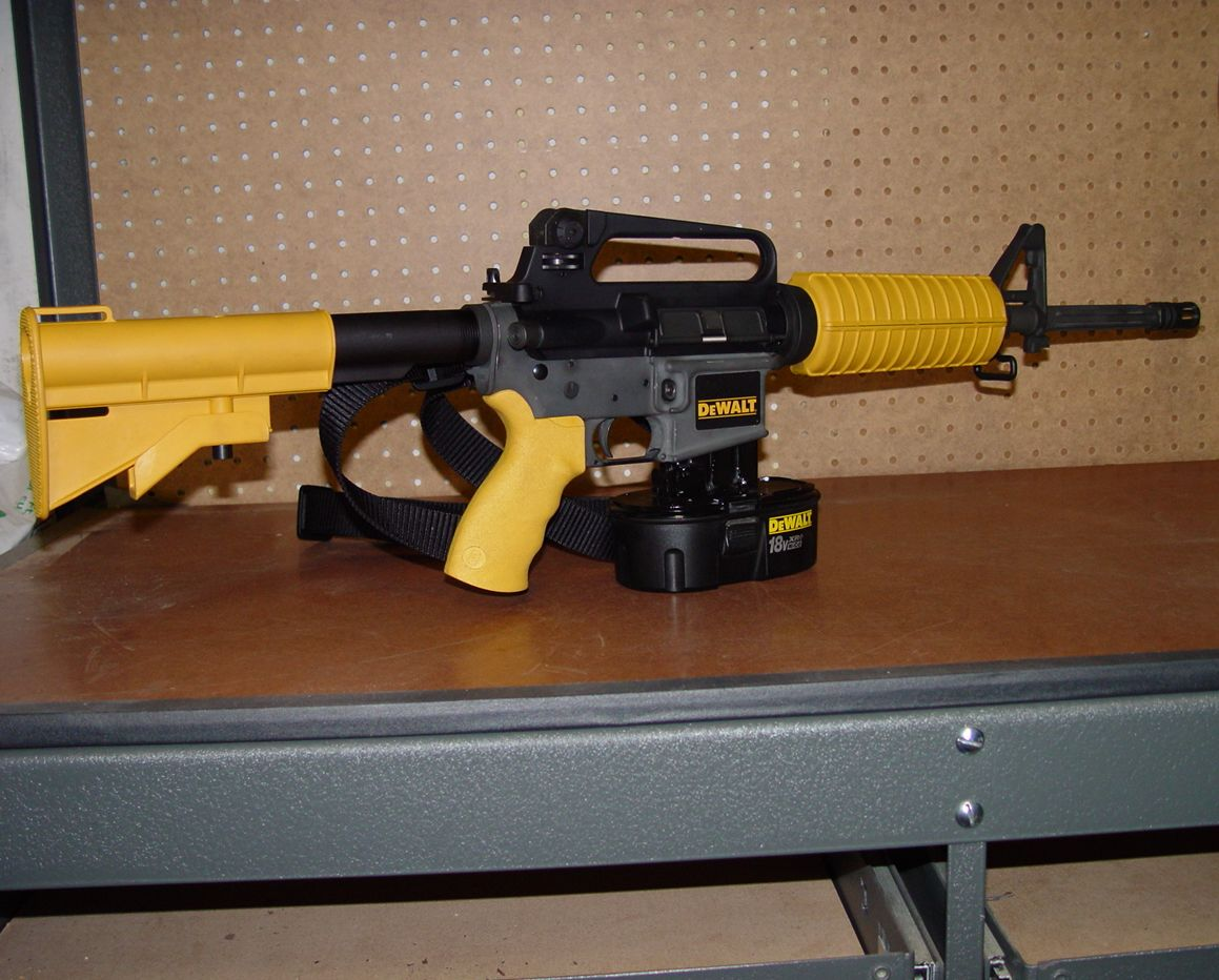 Battery Powered Roofing Nailer The DeWALT Nail Gun Rifle: Real or Hoax?