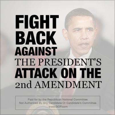 Obama 2nd Amendment Gun Control graphic