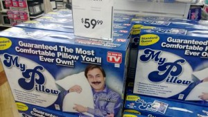 We spotted MyPillow at Bed, Bath, and Beyond for $60.