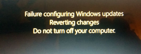 Failure Configuring Windows 8 Updates