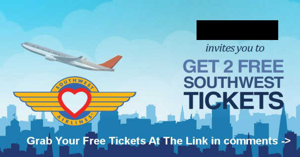 Fake Southwest Airlines ticket giveaway on Facebook
