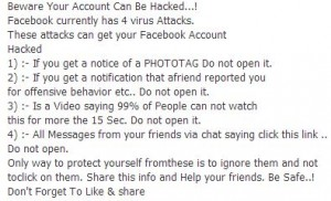 This alert is being circulated around Facebook in 2013.