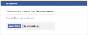 Spam Alert: Fake Facebook Support Emails