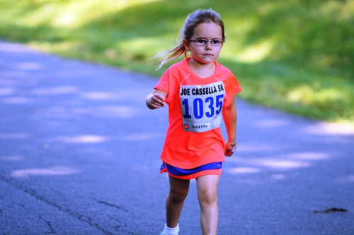 Gianna Hess running the 3rd annual Joe Cassella 5K