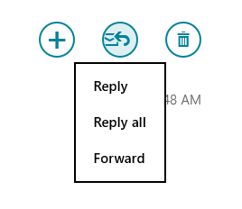 "Windows 8 mail hides the ""Forward"" option under ""Respond"""