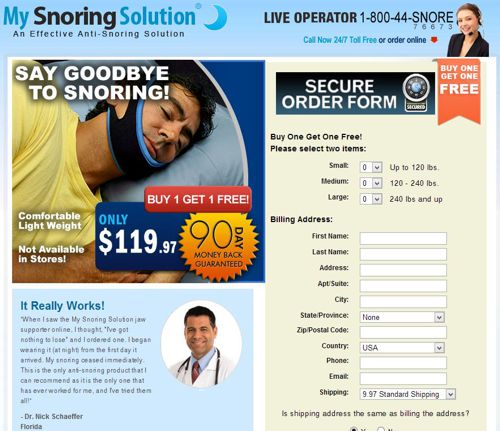 Another page for My Snoring Solution.