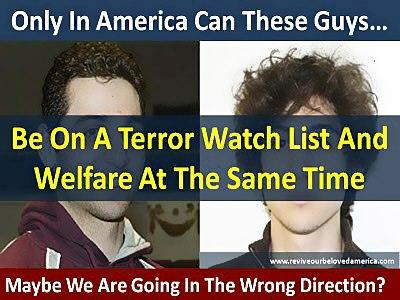 This graphic has circulated regarding welfare and the Boston Bombing suspects.