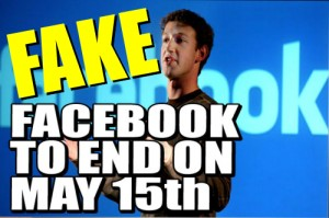 Facebook is NOT Shutting Down on May 15, 2013