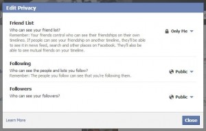 How to Hide Your Facebook Friend List