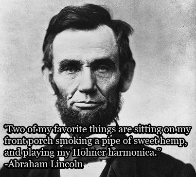 Abraham Lincoln hemp graphic