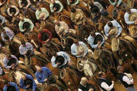 Praying at rodeo