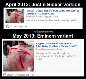 &#8220;Eminem Stabbed&#8221; Rumor is a Recycle of 2012 Bieber Hoax