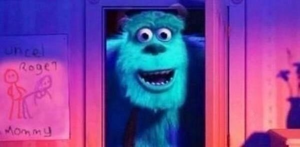 Monsters Inc fake drawing