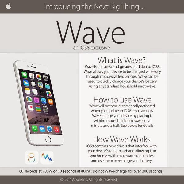 iOS wave microwave hoax