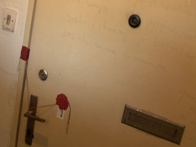 Someone sealed the door and wrote a note forbidding entrance in 1998.