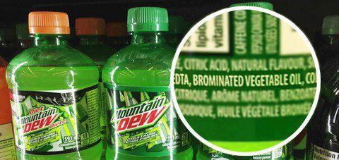Brominated vegetable oil in Mountain Dew