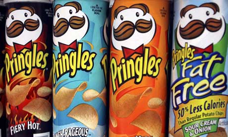 Cans of Pringles