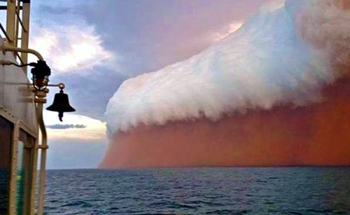 Real picture of Australian dust storm