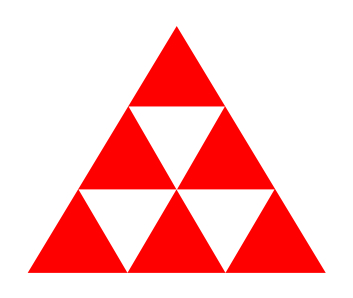 Triangle puzzle without numbers