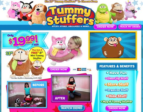 Here is the official Tummy Stuffers website, captured on July 1, 2013.