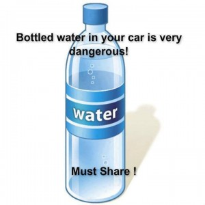 This graphic has been used in 2013 to accompany warnings regarding plastic water bottles.
