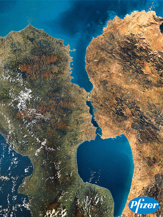 Fake Kissing Islands of Greenland photo