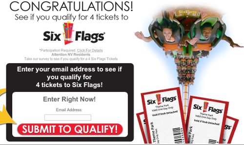 "This website offers a ""rewards"" program which could be more costly than just buying Six Flags tickets."