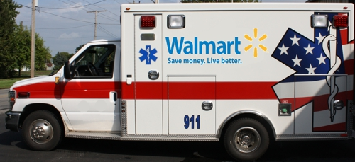 Fake Walmart Ambulance Photo