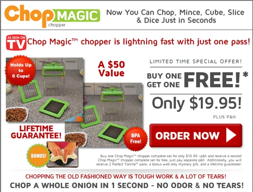 Chop Magic website screenshot