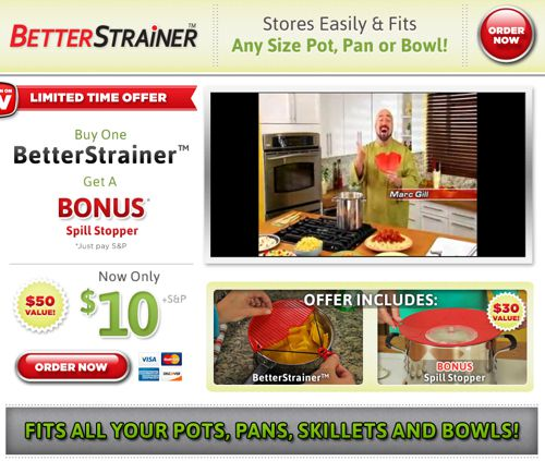 Better Strainer Review Website Screenshot