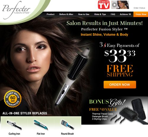 perfecter fusion styler website screen shot