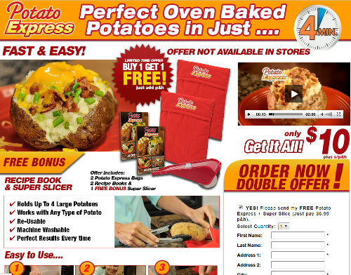 Potato Express Website Review Screenshot
