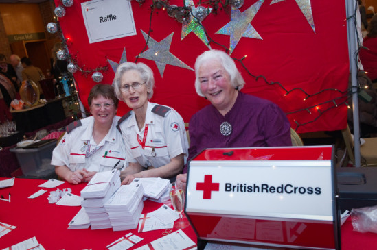 Women working for British Red Cross