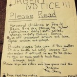Teacher Faces Discipline after Smelly Children Letter